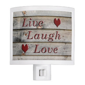 Live Laugh Love on the side of a barn Night Light