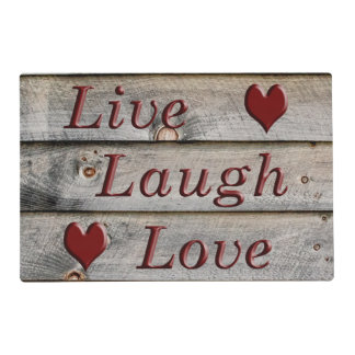 Live Laugh Love on the side of a barn Placemat