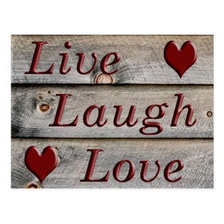 Live Laugh Love on the side of a barn Postcard