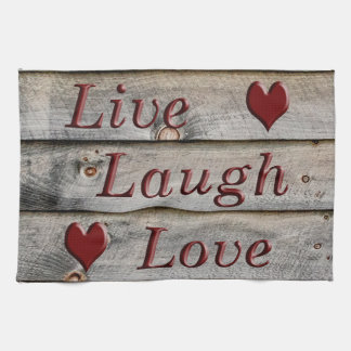 Live Laugh Love on the side of a barn Towel