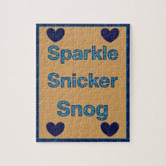 Live Laugh Love or Sparkle Snicker Snog Jigsaw Puzzle