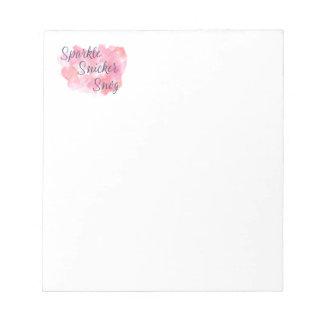 Live Laugh Love or Sparkle Snicker Snog Notepad