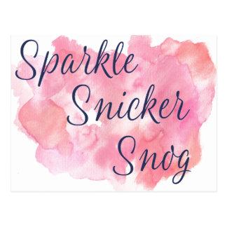 Live Laugh Love or Sparkle Snicker Snog Postcard