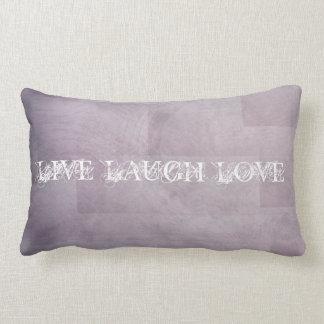 Live Laugh Love Orchid Purple Lumbar Pillow