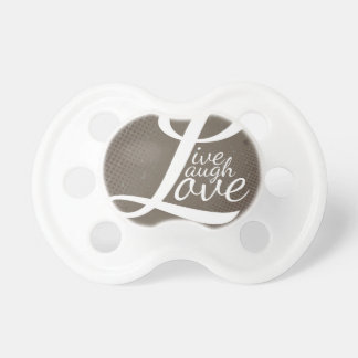 LIVE LAUGH LOVE BooginHead PACIFIER