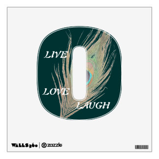 Live Laugh Love Peacock Feather 0 Wall Decal