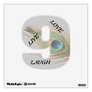 Live Laugh Love Peacock Feather 9 Wall Decal