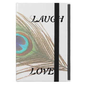 Live Laugh Love Peacock Feather Case For iPad Mini
