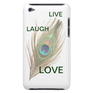 Live Laugh Love Peacock Feather iPod Barely There iPod Case-Mate Case