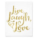 Live, Laugh, Love Photo Print