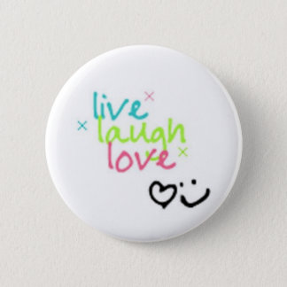 live, laugh, love pinback button