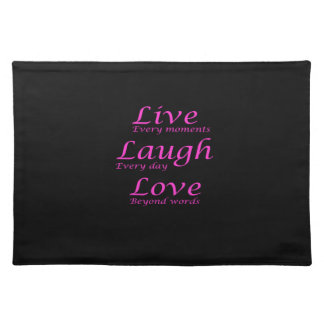 Live, Laugh, Love Placemat