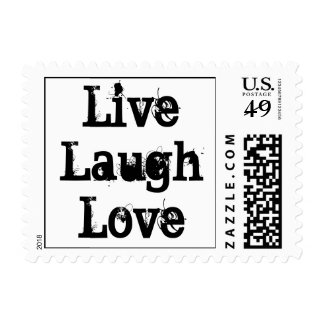 Live, Laugh, Love Postage Stamp