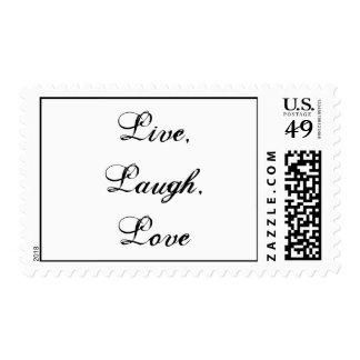 Live, Laugh, Love Postage Stamp