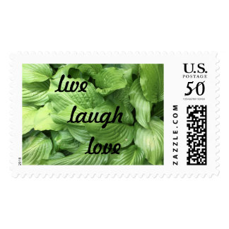 live,laugh,love postage stamp