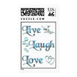Live Laugh Love Postage Stamps