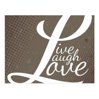 LIVE LAUGH LOVE POST CARD