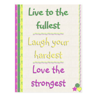 Live, Laugh, Love Postcard
