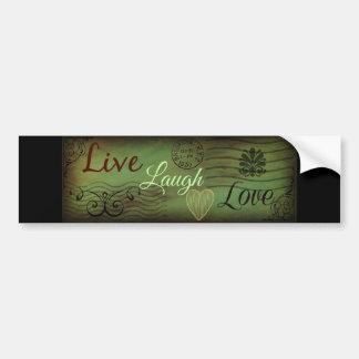 Live Laugh Love Postcard Bumper Sticker