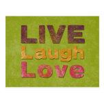 Live Laugh Love Postcards