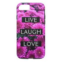 Live Laugh Love Purple Floral iPhone 8/7 Phone Cas iPhone 8/7 Case