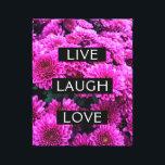 """Live Laugh Love Purple Floral Wrapped Canvas<br><div class=""""desc"""">Pretty purple floral canvas</div>"""
