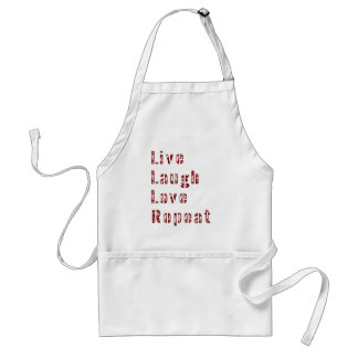Live Laugh Love Repeat Cute Family Adult Apron