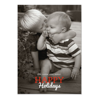 Live, Laugh, Love, Repeat. Holiday Card | 5 x 7