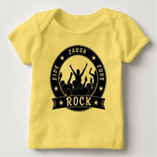 Live Laugh Love ROCK (blk) Baby T-Shirt