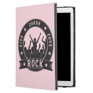 """Live Laugh Love ROCK (blk) iPad Pro 12.9"""" Case"""