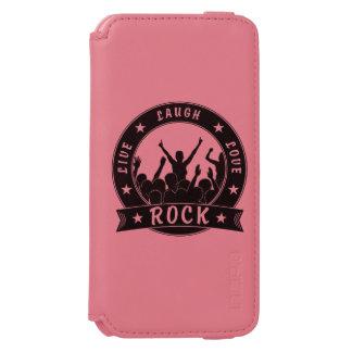 Live Laugh Love ROCK (blk) iPhone 6/6s Wallet Case