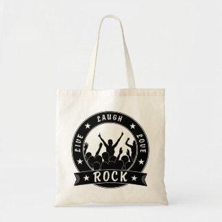 Live Laugh Love ROCK (blk) Tote Bag