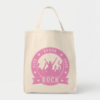 Live Laugh Love ROCK (pink) Tote Bag