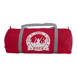 Live Laugh Love ROCK (wht) Duffle Bag