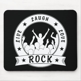 Live Laugh Love ROCK (wht) Mouse Pad