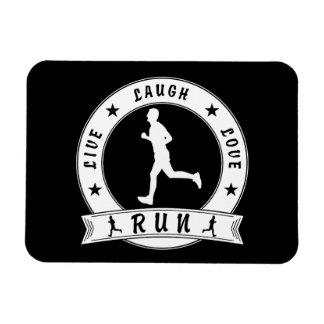 Live Laugh Love RUN male circle (wht) Magnet