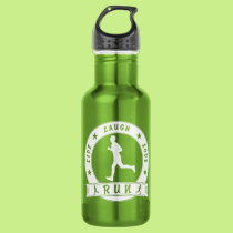 Live Laugh Love RUN male circle (wht) Stainless Steel Water Bottle