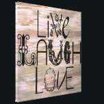 """Live laugh love rustic wooden sign wall canvas<br><div class=""""desc"""">Live laugh love rustic wooden sign wall canvas</div>"""