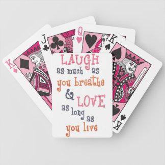 Live laugh love simple quote card decks