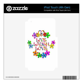 Live Laugh Love iPod Touch 4G Skins