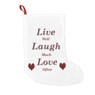 Live Laugh Love Small Christmas Stocking