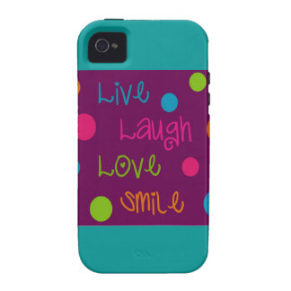 Live, Laugh, Love, Smile Polka Dots Case-Mate iPhone 4 Cover