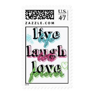 Live Laugh Love stamp