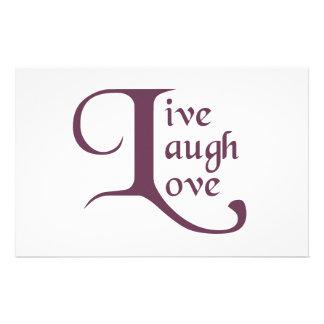 Live, Laugh, Love Stationery