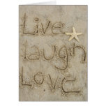 live laugh love stationery note card
