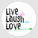Live Laugh Love Stickers