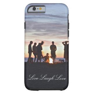 Live Laugh Love Sunset Beach Bonfire Phone Case