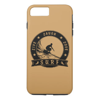 Live Laugh Love Surf 2 (Black Circle) iPhone 8 Plus/7 Plus Case