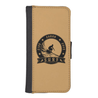 Live Laugh Love Surf 2 (Black Circle) iPhone SE/5/5s Wallet