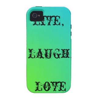 Live,laugh,love teal and lime green vibe iPhone 4 covers